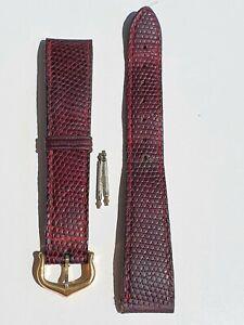 Cartier Vermeil Tank Original Leather Strap and Buckle