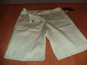 New Womens Size 10 Daisy Fuentes Beige Twine Shorts