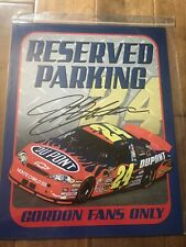 Reserved Parking For #24 Jeff Gordon Fans Only Metal Sign