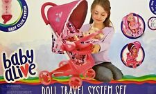 Baby Alive Doll Travel System DOLL STROLLER CAR SEAT CLICK FEATURES NEW IN BOX