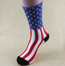 Flag Crew Sport Socks Crossfit Skate Patriotic Sock Sz 10-13