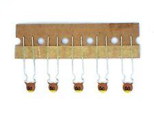 5x Céramique Condensateur 68pf, 50v-env. ø5x2,6 rm5 (Kerko) p266