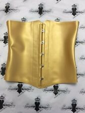 R1650 Latex GORGEOUS Clincher Corset S UK PEARLSHEEN SUNGOLD Seconds RRP £103.00