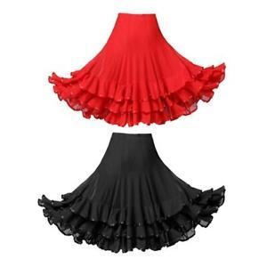 Flamenco Dance Big Swing Rock Tüll Tango Cha Cha Trainingskleid Kostüm