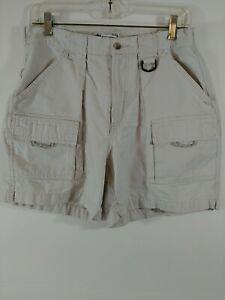 Women's Size M Columbia PFG Cargo Shorts, Multiple Pockets, Light Color, #3583