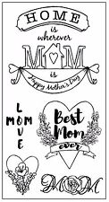 Sizzix Best Mom Ever Stamp 5 pc set #662001 MSRP $9.99  by Jen Long AWESOME!!
