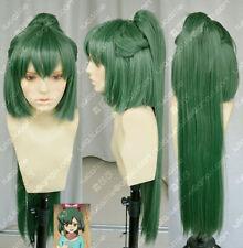 AKB0048 / Takahashi South Dark green cosplay Wig +80CM horsetail Clip