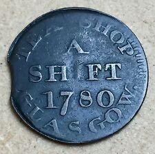 1780 Scottish Conder Token - James Angus, Glasgow - Lan.20 (£50+ in book) (A62)