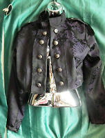 Unisex purple brocade cropped Military Style/Dark Star jacket.New.Size m/-ch-40""