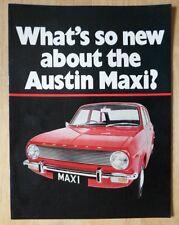 AUSTIN MAXI 1500 orig 1969 UK Mkt Sales Brochure - 2624/A