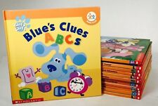 Blue's Clues And Dora The Explorer Scholastic Hard Covers Learning Books 14 Lot