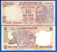 India P-89 10 Rupee Year  2014 Mahatma Gandhi Uncirculated Banknote