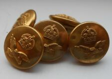 five   2.2cm  royal air force  2ww  RAF gilt  uniform buttons by jr gaunt & son