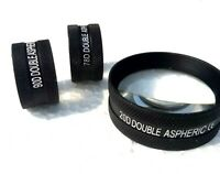 Brand New Aspheric Slit Lamp Lens Set of Three 20D, 90D and 78D Free Shipping