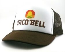 "Taco Bell Trucker Hat mesh hat snapback hat brown new Vintage 1980""s"