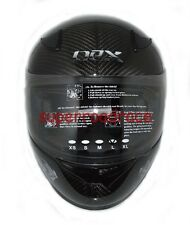 NEX FULL FACE MOTORCYCLE HELMET REAL CARBON FIBER DOT APPROVED LARGE GREY