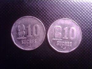 ECUADOR 10 SUCRES 1988   1991   SEP13F