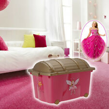 Princess Storage Box Girls Chest Bedroom Play Room Kids Childrens Toys Clothes