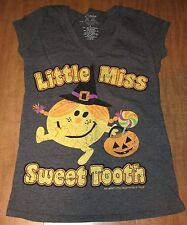 LITTLE MISS SWEET TOOTH juniors small tee Roger Hargreaves T shirt UK cartoon