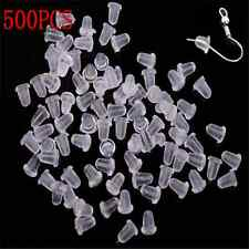 500PCS Unique Rubber Earring Back Stoppers Ear Post Nuts 4MM Jewelry Findings TR