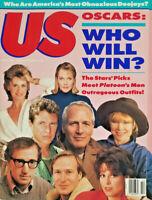 US Magazine April 1987 - Oscars - Platoon Movie - Celebrity - No Label Near Mint
