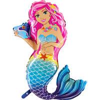 xxl Meerjungfrau Kindergeburtstag Ballon Helium Luftballon Mermaid 46″