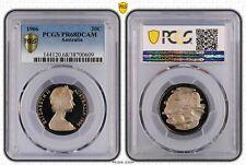 1966 Australian Twenty Cent, 20c Proof PCGS - PR68DCAM -609 D7-244
