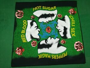 RED HOY CHILI PEPPER   - Rare  Vintage BANDANA  cm.52x53  -  Made in Italy.