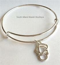 Silver Plated Stethoscope Charm Bracelet Nursing Medical RN MD Graduation Gift