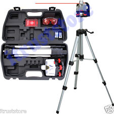 ROTATING LASER LEVEL PLUMB TOOL KIT WITH TRIPOD STAND SURVEYING LEVELING LAZER