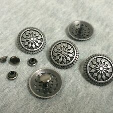 "5 ROUND Metal Rivet Studs 3/4"" Leather Crafts 6mm (1/4"") post (1029) Concho"