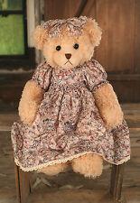 Teddy Bear 'Isabella' Settler Bears Handmade Gift Dress 58cms BRAND NEW