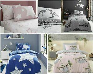 Kids Children Quilt Cover Bedding Duvet Set Single Toddler Boys Girls
