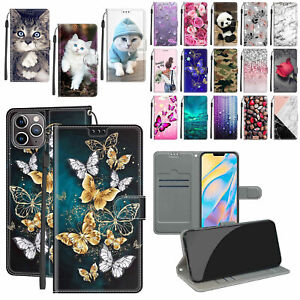 For iPhone 13 12 11 Pro Max XR XS 6S/7/8+ Pattern Leather Wallet Flip Case Cover