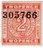 (I.B) Lancashire & Yorkshire Railway : Prepaid Parcel Stamp 2d