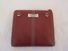 NEW BUXTON MINI MAROON LEATHER WALLET,  SEE-THROUGH ID SLOT, COIN POCKET