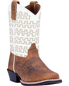Dan Post Boys' Copper Sammie Leather Cowboy Boot Square Toe - Dpc2941