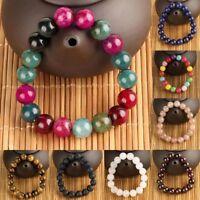 Natural 10mm Round Assorted Gemstone Beads Healing Stretchy Gem Beading Bracelet