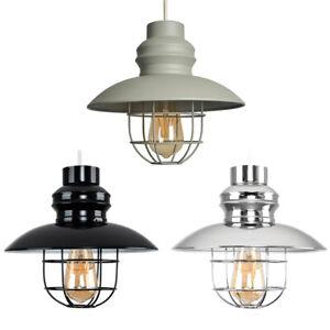 MiniSun Ceiling Light Shade - Vintage Fisherman Style Pendant Lampshade LED Bulb