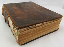 """Antique religious OLD Holy BIBLE Leather Bound Dated 1828 BOOK 11x9"""" & 3"""""""