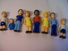 """Vintage Hard Plastic Dolls 4 1/4""""-5 1/2"""" Tall Lot Of 8"""
