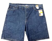 Wrangler Men's Relaxed Fit Blue Denim Shorts Cotton  Hits at Knee New