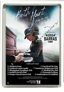 Beth Hart - War In My Mind UK Tour 2020 - Fridge Magnet - Jumbo 90mm x 60mm Size