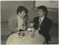 Les acteurs Rodolfo Grieco et Don Backy Vintage silver print Tirage argentique