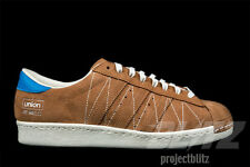 Adidas CONSORTIUM X UNION SUPERSTAR 80v TIMBER BROWN Size 8.5 B34079
