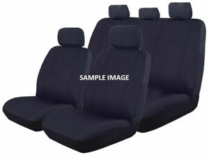 Canvas Seat Covers for Nissan Navara D22 Series Dual Cab 04/1997 - 02/2015 GREY