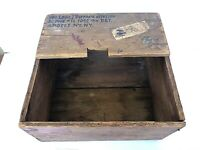 WW1 Antique Army Wooden Military Shipping Crate Storage Box named Sgt. Dippach