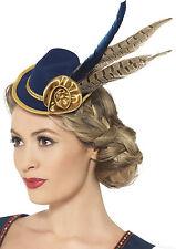 bavarese Mini cappello con piuma per donne NUOVO - CARNEVALE BERRETTO kopfbed