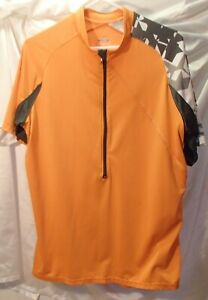 Pearl Izumi Orange Cycling Shirt Bike Jersey Mens Size Large