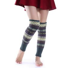 Knit Boot Warmer Socks Fair Isle Winter Leggings Knee High Leg Warmers Crochet